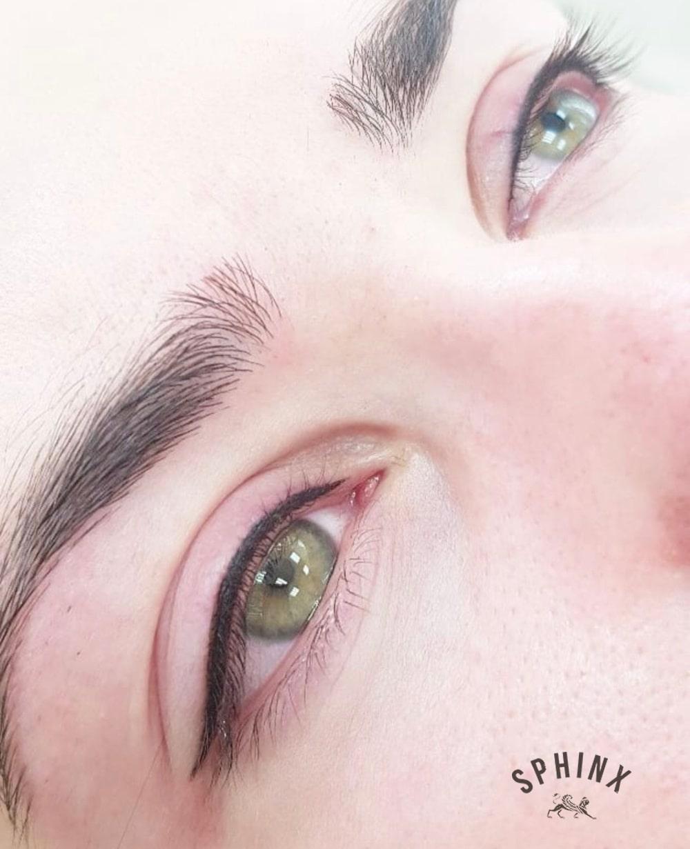 Совмещение техник татуажа глаз